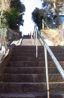 最福寺への石段