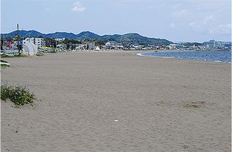大会会場となる三浦海岸