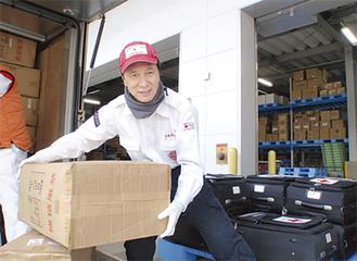 支援物資の搬送も活動のひとつ