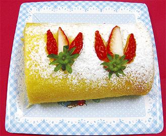 教室で作るロールケーキ