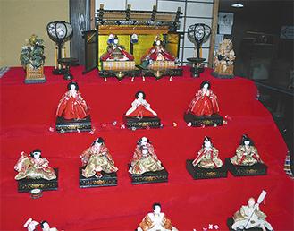 館内に展示されている7段飾り
