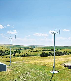 設置が予定されている発電機の同型機種(県提供)