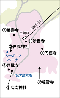 三浦七福神の巡拝地図