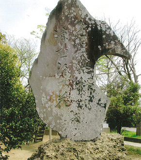 若宮神社境内に建つ芭蕉の句碑