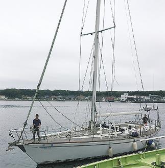 乗船する翔鴎号
