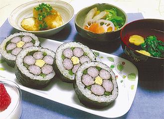 春らしい華やかなまき寿司