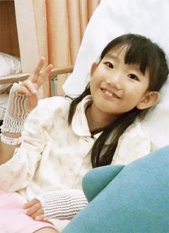 小学校に戻る目標を持ちながら、病院のベッドで懸命に生きている雫さん
