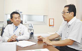 内出医師(左)と向笠医師