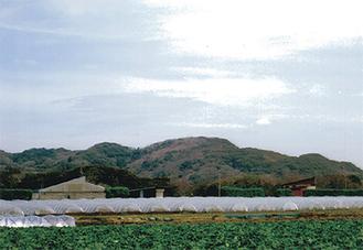 犬走りの地。前方の小屋辺りは横須賀
