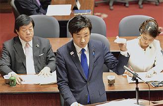 3月13日に行われた予算委員会の質問の様子