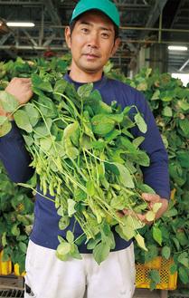 岩崎ファーム・岩崎泰樹さん。父親の代が作った生産者グループ「七草会」「はねっ娘」を各農園の次世代が引き継いでいる