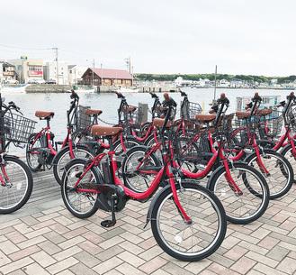 みうらレンタサイクル運営協議会が貸与する電動アシスト付き自転車(写真提供/ヤマハ発動機提供)