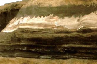 奇岩の一つ「火炎構造」