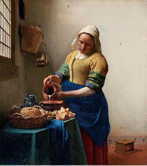 ヨハネス・フェルメール「牛乳を注ぐ女」アムステルダム国立美術館所蔵