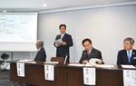 計画を説明する吉田市長
