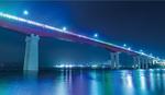 三浦JCによってライトアップされた城ヶ島大橋