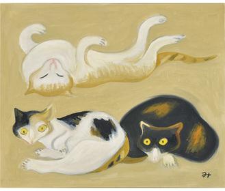 三木弘《猫》個人蔵