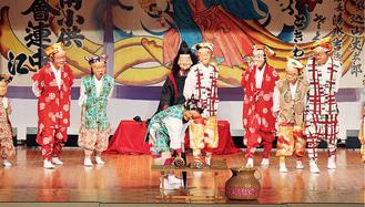 恵比寿の舞を踊る子どもら(写真提供/三浦市教委)