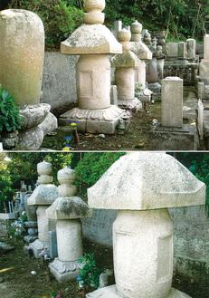 見桃寺墓地内、向井氏一族の墓