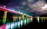 ライトアップされた城ヶ島大橋