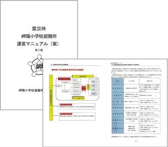 岬陽小学校避難所準備委員会が作る独自マニュアル