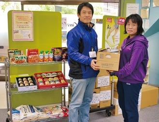 約100kgの食料品が寄付された