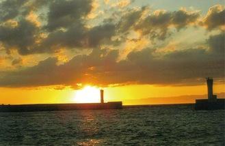 三崎港から見た夕景