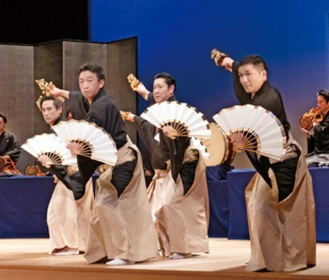 出演団体の一つ「日本舞踊家集団 弧の会」