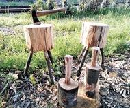 間伐材でものづくり体験