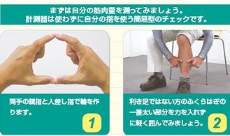 筋肉量を知る指輪っかテスト