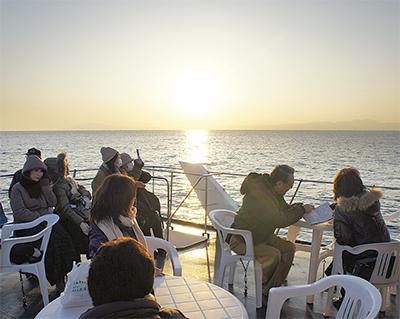 海上交通で新たな観光資源開発