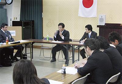 吉田市長と意見交換