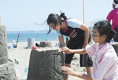 砂像作りにわくわく