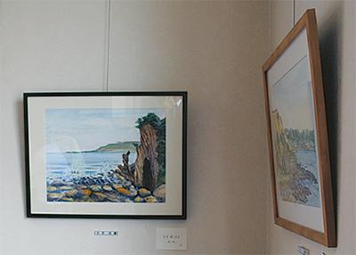 水彩画などを展示