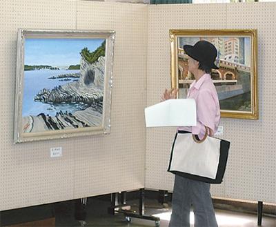 三浦の風景、油絵等で表現