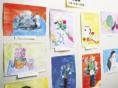 花や野菜の水彩画ずらり