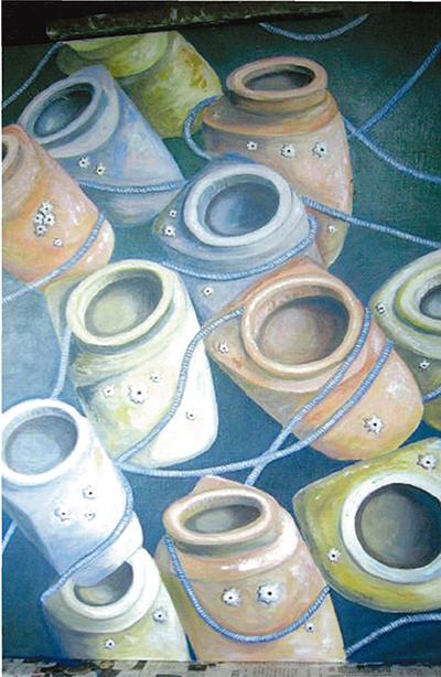 油彩で描く三浦の自然