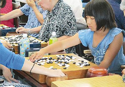 未来の囲碁棋士が好勝負