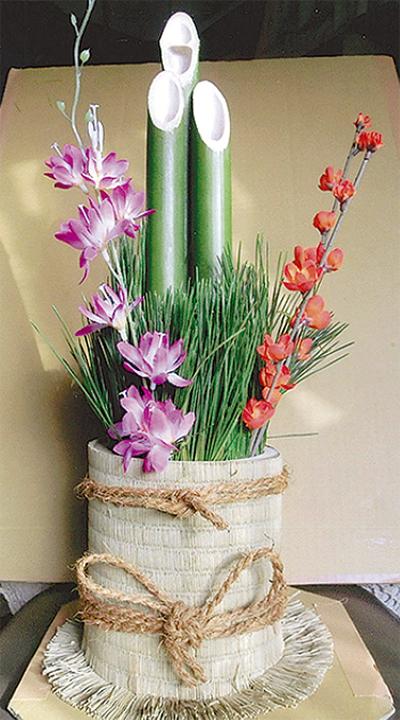竹の良さ知る門松づくり