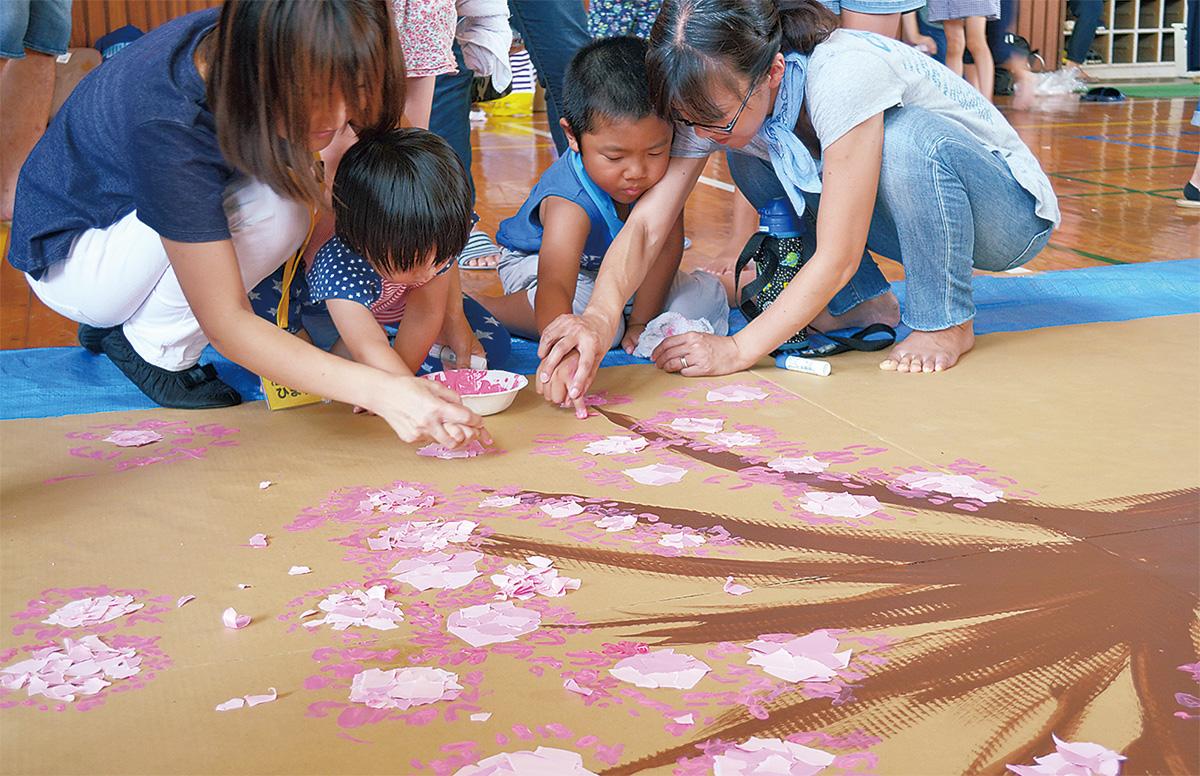 キャンバスに桜満開