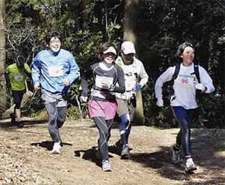 仙元山山頂までの11キロを駆け抜けた