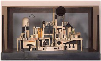築地小劇場第49回公演『朝から夜まで』(1926年再演)舞台装置模型 ギャラリーTOM