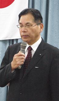 三浦半島の観光活性に意欲的な三浦藤沢信金の平松理事長。経済通、渋沢栄一研究者として知られ講演も多数こなす