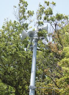 現在町内42カ所に防災無線の子局が設置されている