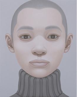 《Portrait-gray turtle-necksweater》2007年 courtesy of Nishimura Gallery