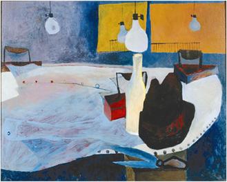 金山康喜《アイロンのある静物》1952年油彩、カンヴァス 東京国立美術館蔵
