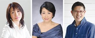 出演する(左から)川崎智子さん、徳永桃子さん、徳永洋明さん