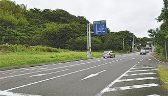 常設のアンテナショップが設置される南郷地区の建設予定地(写真左)