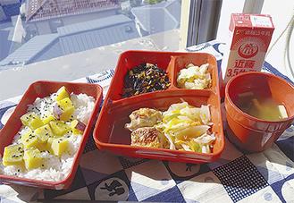 提供されている中学校給食の一例(写真提供/逗子市教委)