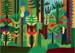 谷川晃一《雑木林の生命》2015年 アクリル、紙パネル